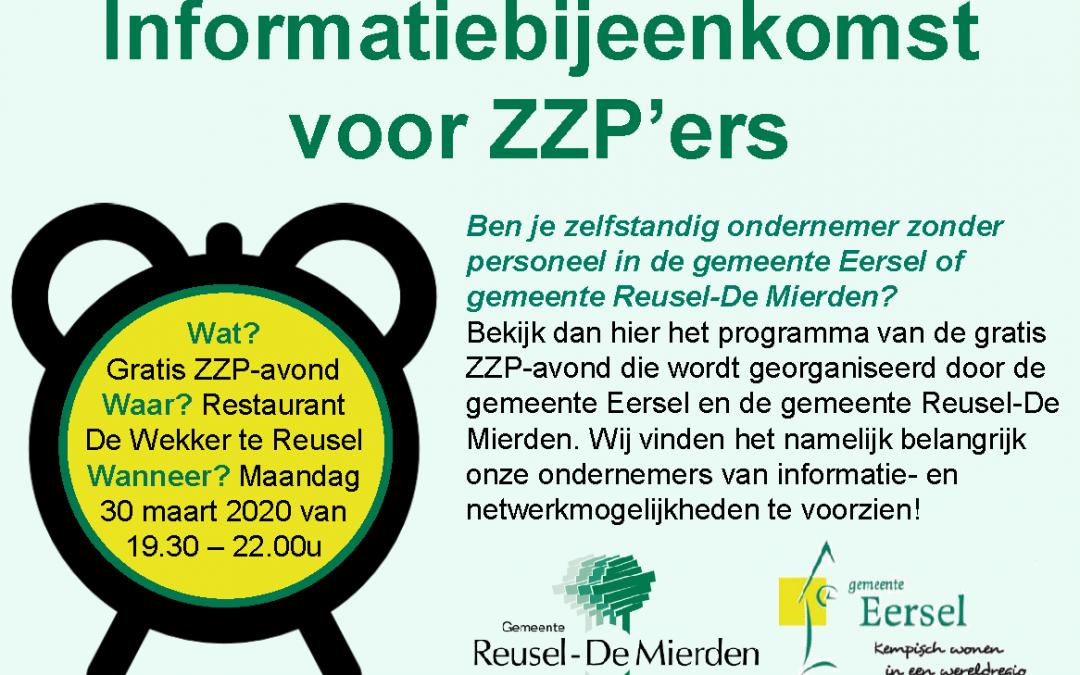 Informatiebijeenkomst voor ZZP'ers – Vindt geen doorgang!